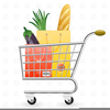 Supermarket Trolley Clipart Image