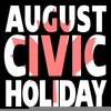August Long Weekend Clipart Image