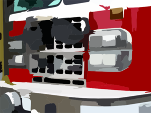 Fire Engine With Mustache Detail Duemegapixel Vector Clip Art
