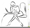Woman Working At Desk Clipart Image
