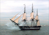 Uss Constitution Fires Its Starboard Guns. Image
