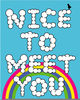 Nice To Meet You Clipart Image