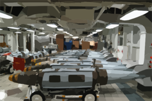 Joint Direct Attack Munitions (jdam) Sit On The Mess Decks In Temporary Storage Prior To Being Moved To The Flight Deck To Be Loaded Onto Awaiting Air Wing Aircraft. Clip Art