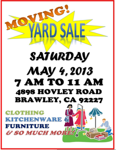 Free Clipart Yard Sale Image