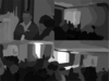 Crowded Science Fiction Convention Panel Vector Clip Art