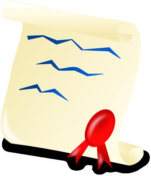 Graduation Certificate Clip Art At Clker Com Vector Clip