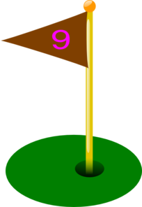 Golf Flag 9th Hole Clip Art