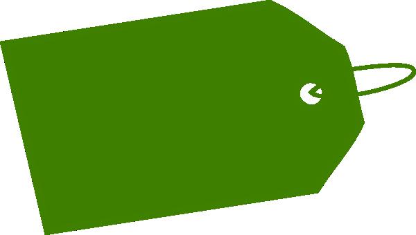 green tag inverse side clip art at clkercom vector clip