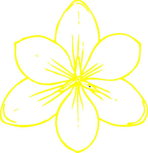 Black Flower Clip Art At Clker Com: Yellow Flower 35 Clip Art At Clker.com