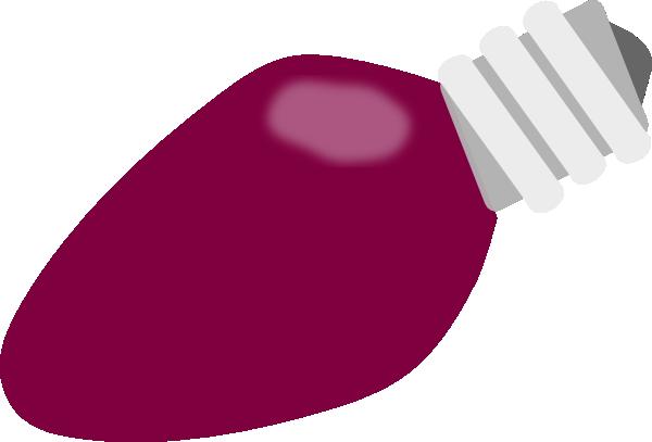Purple Christmas Lightbulb Clip Art at Clker.com - vector ...