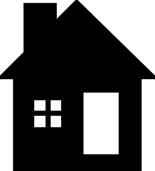Black white house clip art at vector clip art Black and white homes