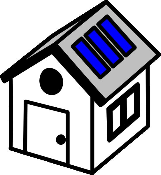 3d House Solar Panels Clip Art at Clker com vector clip