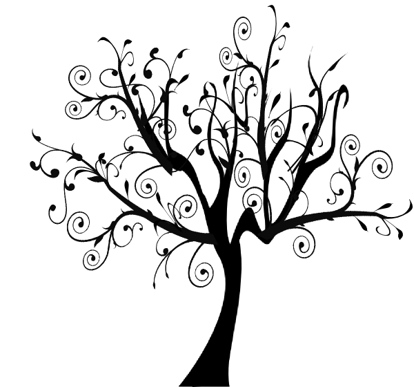 swirl tree clip art at clker com