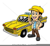 Animated Taxi Clipart Image