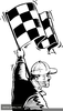 Waving Checkered Flags Clipart Image