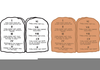 Commandments Clipart Image