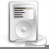 Listening To Ipod Clipart Image