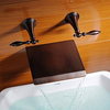 Oil Rubbed Bronze Finish Waterfall Widespread Bathtub Faucet-- Faucetsuperdeal.com Image