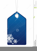 Free Christmas Tag Clipart Image