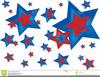 American Flag And Stars Clipart Image