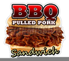 Pulled Pork Sandwich Clipart Image