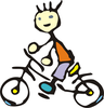 Trail Riding Clipart Image