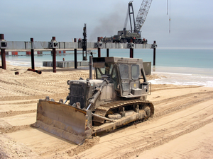 U.s. Navy Seabees Assigned To Amphibious Construction Battalions One And Two Continue To Smooth The Beaches For Future Operations In Preparation For The Completion Of The At Camp Patriot Image