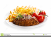 Steak And Fries Clipart Image