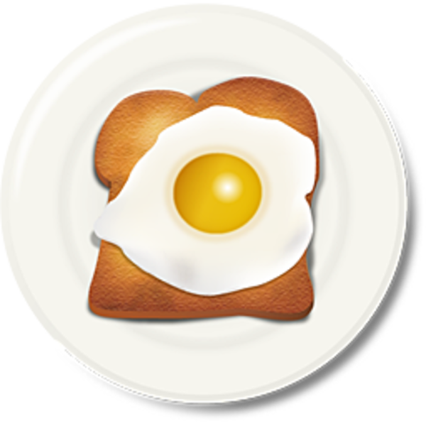Egg Toast Breakfast 2 | Free Images at Clker.com - vector ...
