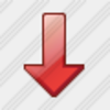 Icon Arrow Down Red 3 Image