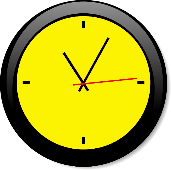 Clock Yellow A | Free Images at Clker.com - vector clip ...