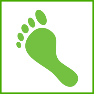 Green Foot Icon Clip Art