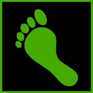 Green Foot Icon Clip Art
