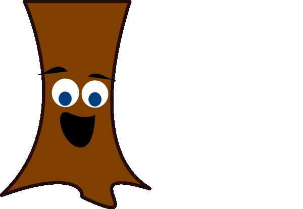 Tree trunk face clip art at vector clip art for Tree trunk art