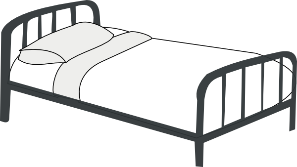 Hospital Bed Clipart Black And White