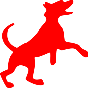 Red Dog Dancing Clip Art