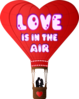 Love Is In The Air Hot Air Balloon Clip Art