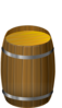 Wooden Barrel Clip Art
