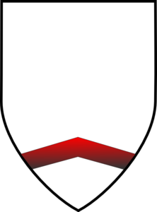 White Shield With Red V Clip Art