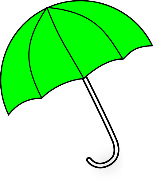 Red umbrella and green grass 5