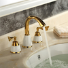 Ti-pvd Finish Brass Widespread Bathroom Sink Faucet-- Faucetsuperdeal.com Image