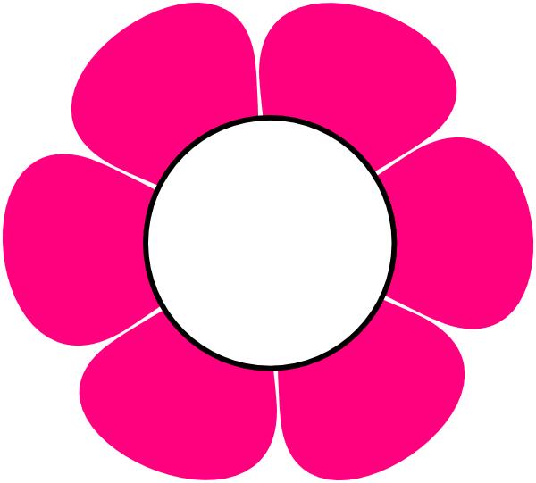 1 Pink Flower Clip Art At Clker Com Vector Clip Art
