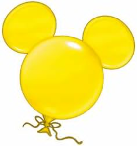 Mickey Mouse Balloon Clipart Image