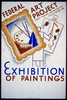Exhibition Of Paintings - Federal Art Project Works Progress Administration, Illinois Image