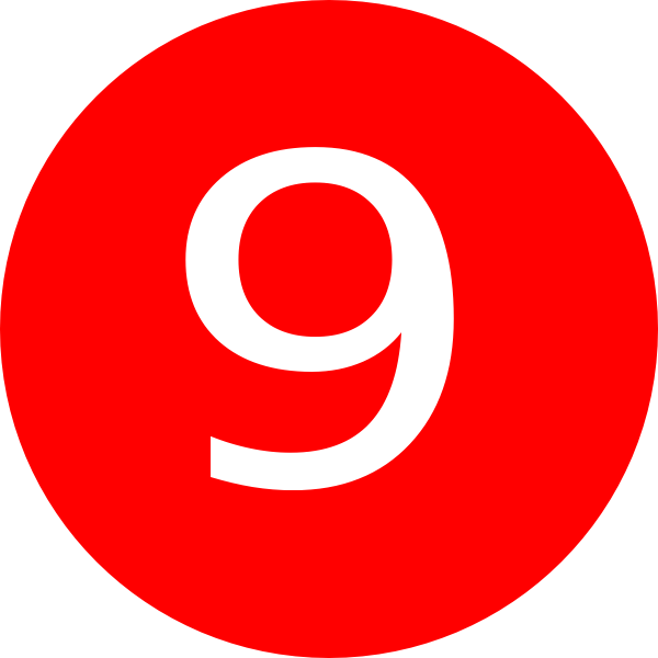 Number 9 Red Background Clip Art At Clker Com Vector