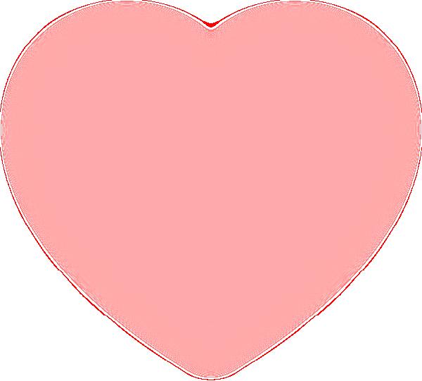 fuzzy pink heart clip art at clker com