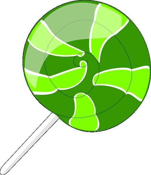 Green Lollipop Clip Art At Clker Com Vector Clip Art