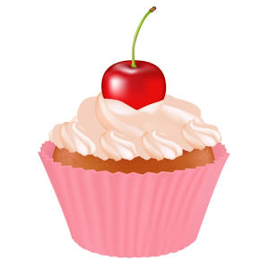 Cherry Cupcake Free Images At Clker Com Vector Clip