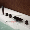 Antique Oil Rubbed Bronze Finish Bathtub Faucet With Handshower Image