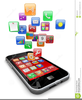Clipart Cell Phone Applications Image